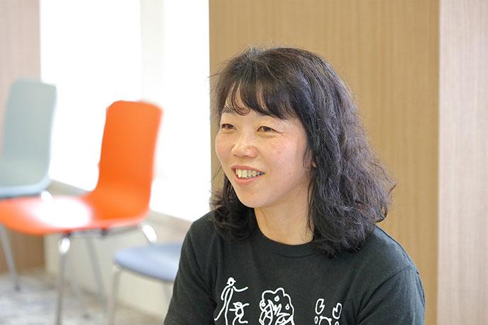 てんぱくプレーパーク代表の沢井史恵さん