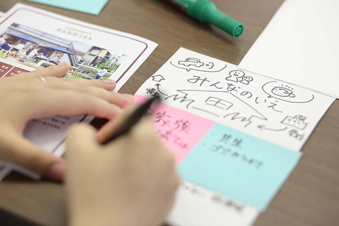 アイデアカードではイラストを描くことでイメージを具体化