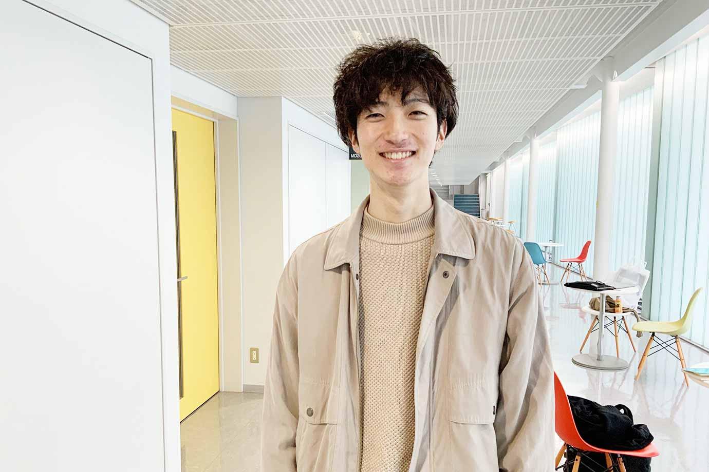 名古屋学芸大学 メディア造形学部デザイン学科 デザインプロデュースコース 秋山隼大さん