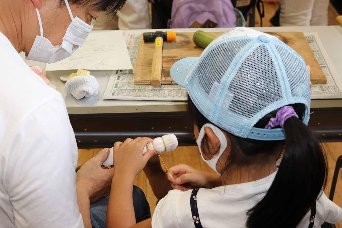 使う材料も工夫して、子どもでも取り組みやすい作り方に