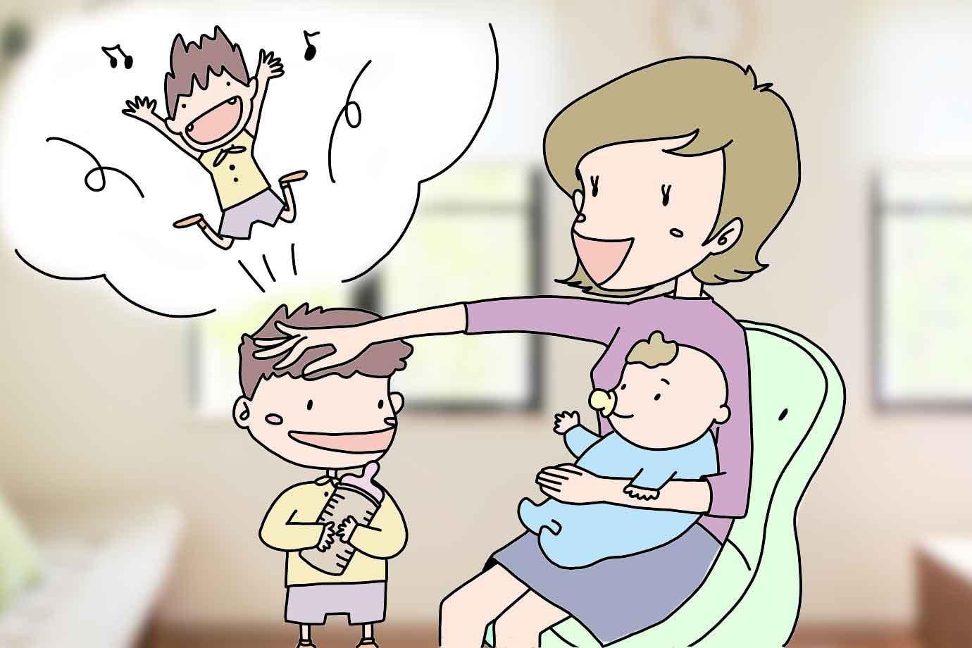 赤ちゃん返りにはどう対応するか?