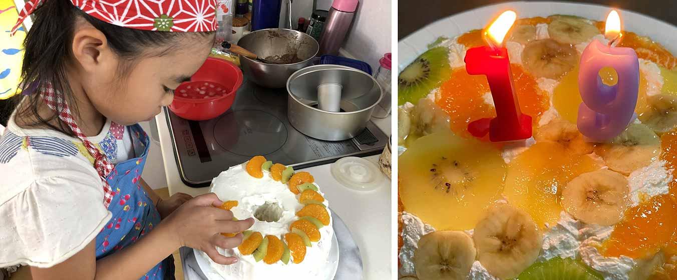 ケーキ作りやデザート作りに挑戦したお子さんも