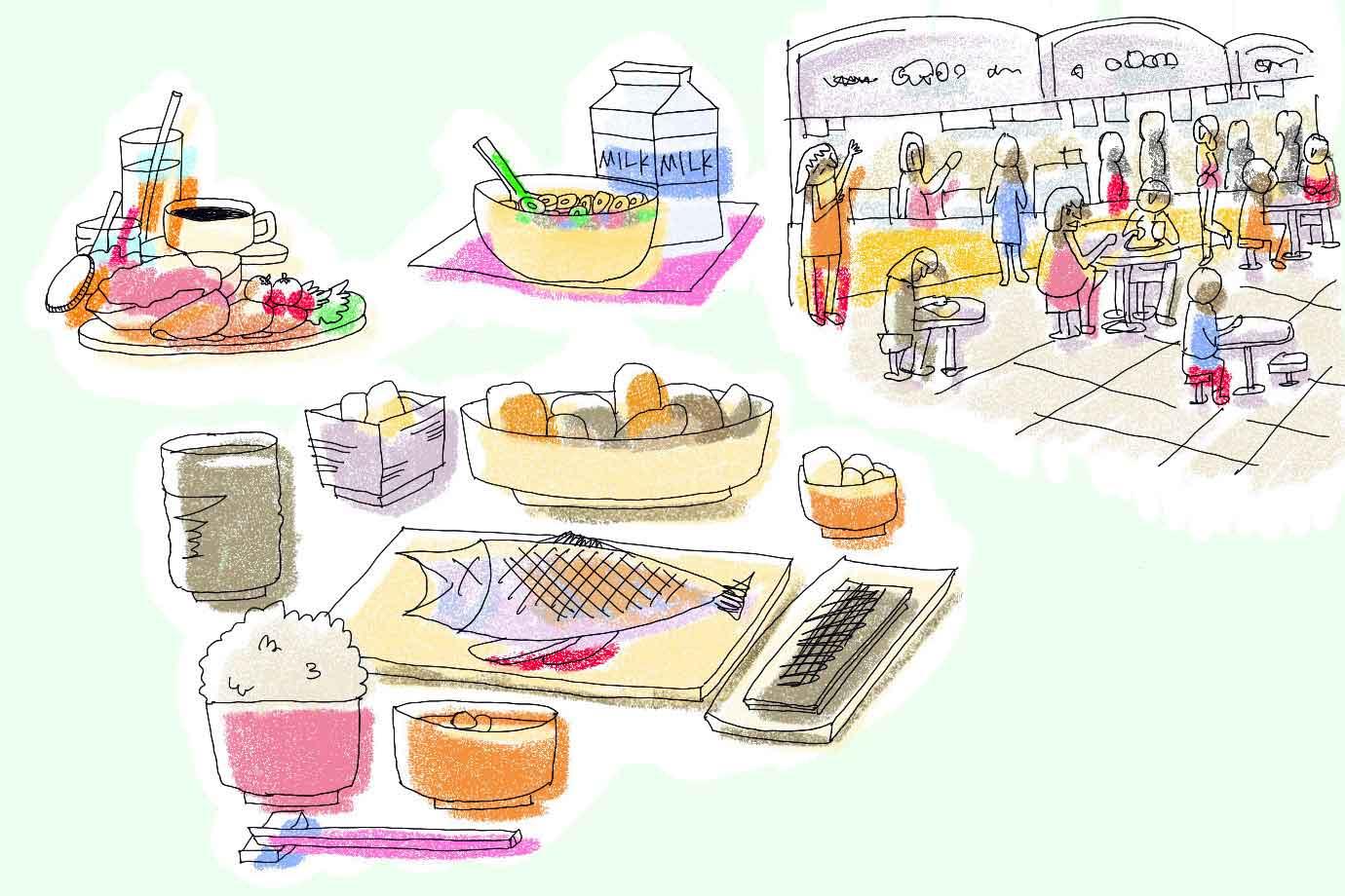 日本とヨーロッパ、食生活の違い