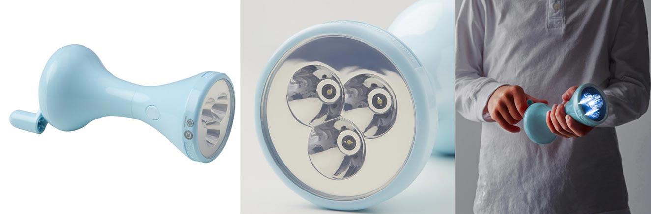 LJUSA ユーサ 手回し充電式LED懐中電灯 ¥ 599
