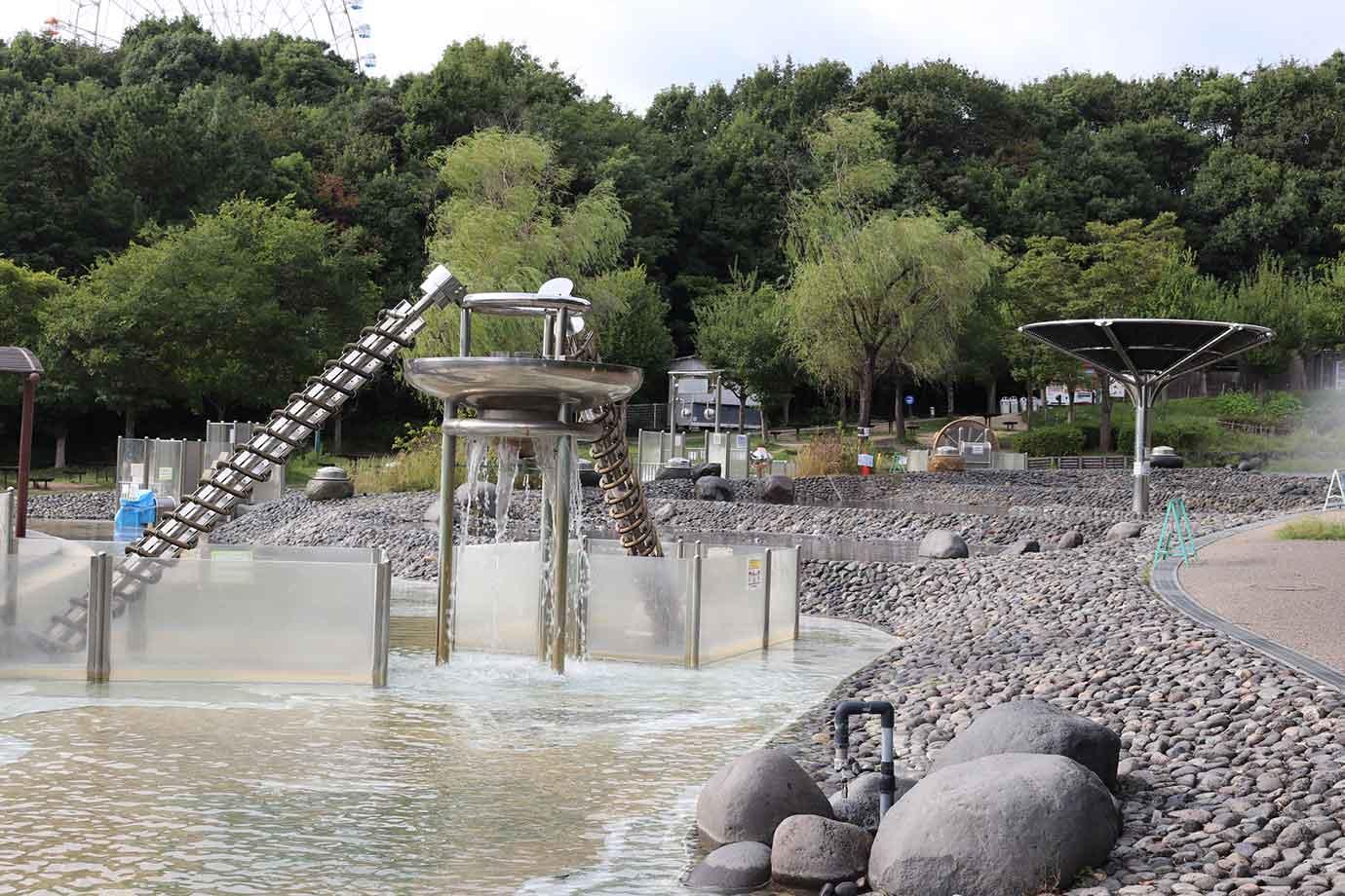 自然体感遊具 水のエリア