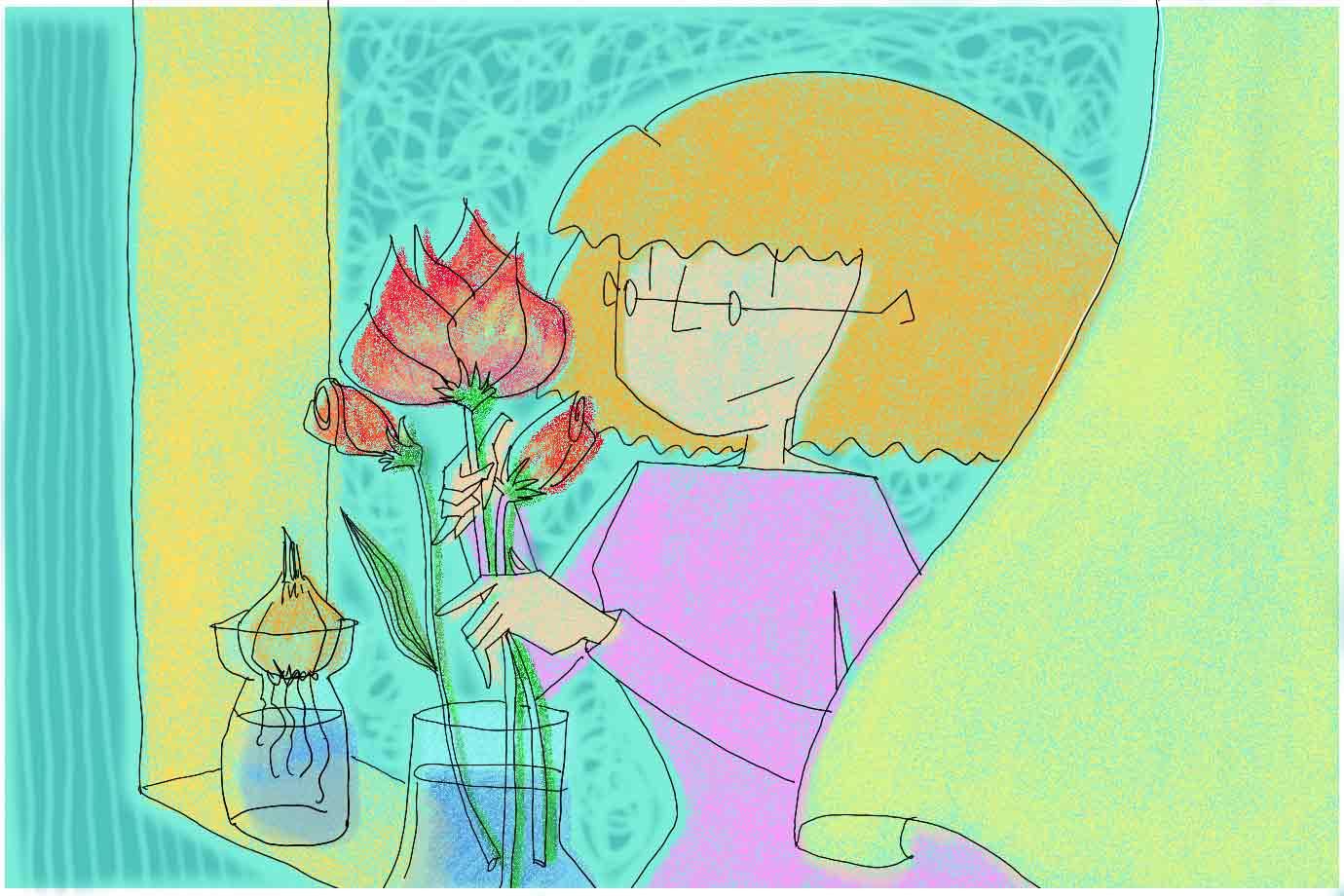 お花を定期的に飾るようにしたら、自然と気持ちも上がるように