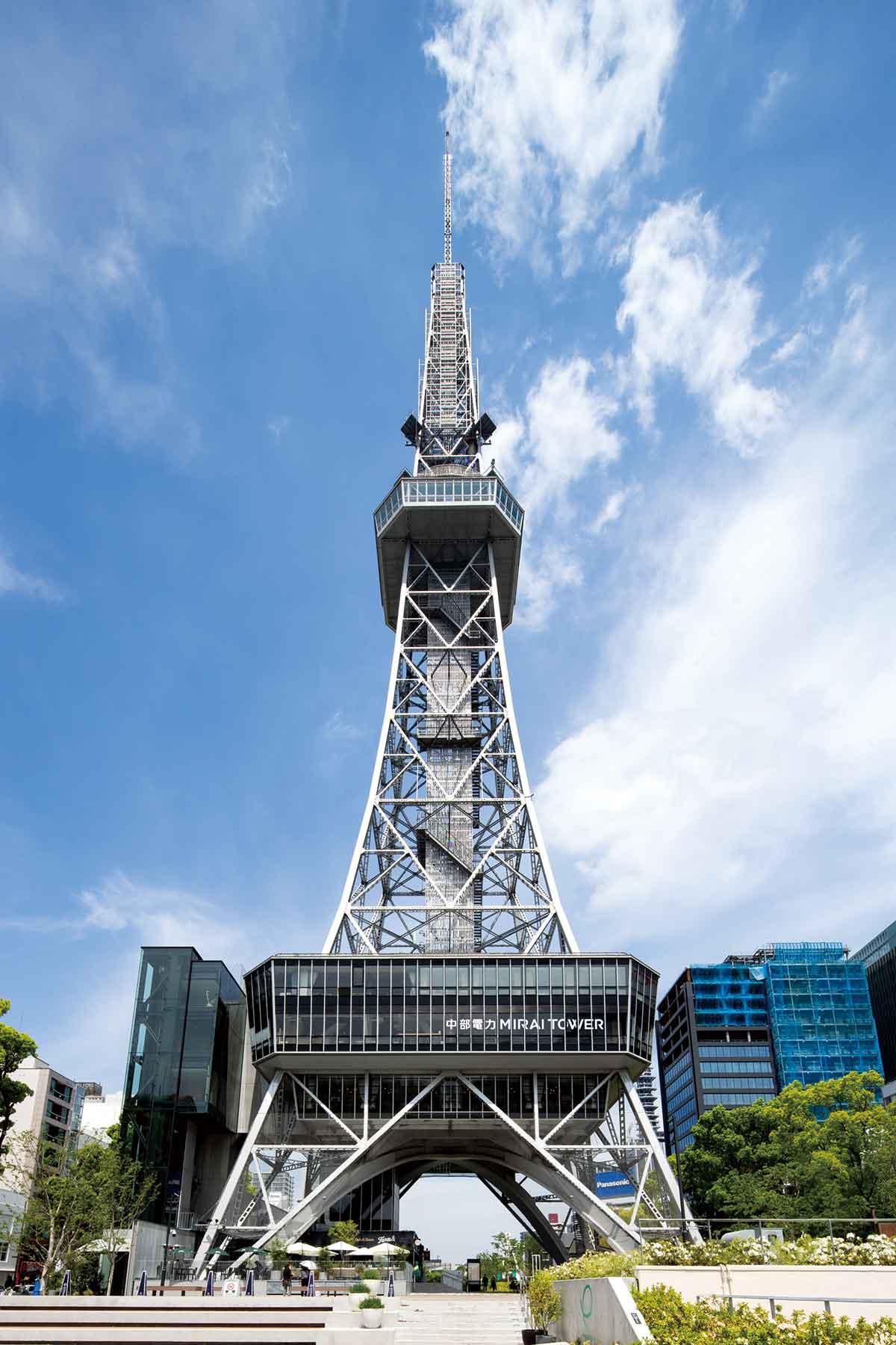 中部電力 MIRAI TOWERは、1954年(昭和29年)に、名古屋テレビ塔として、観光とテレビ放送用電波発信のために建設された施設です