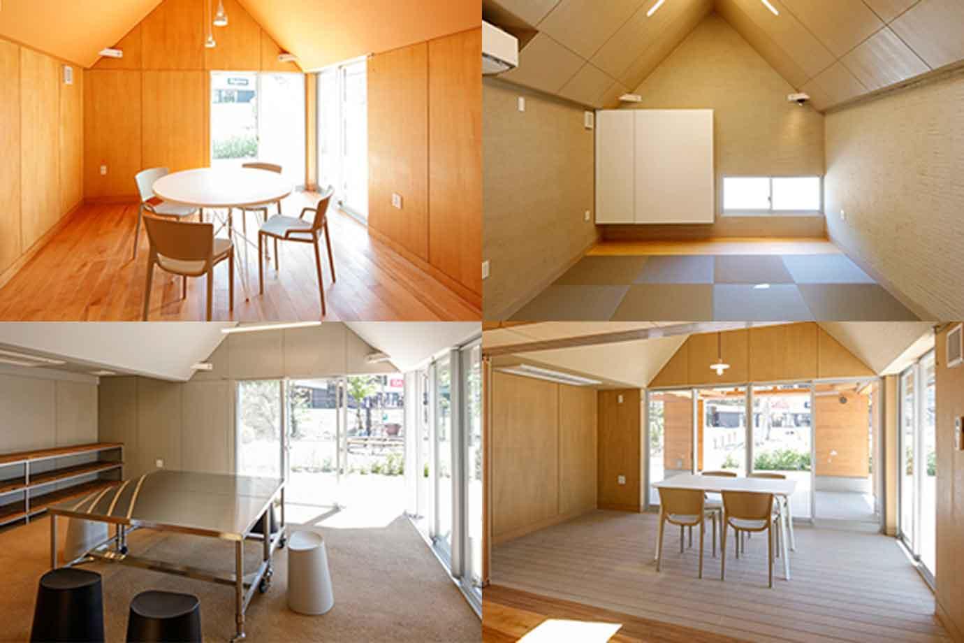「大廊下」の両側には、広さや使い方の異なる小さな4つの貸し部屋がくっついています。サークル活動や会議など、有料で利用できます